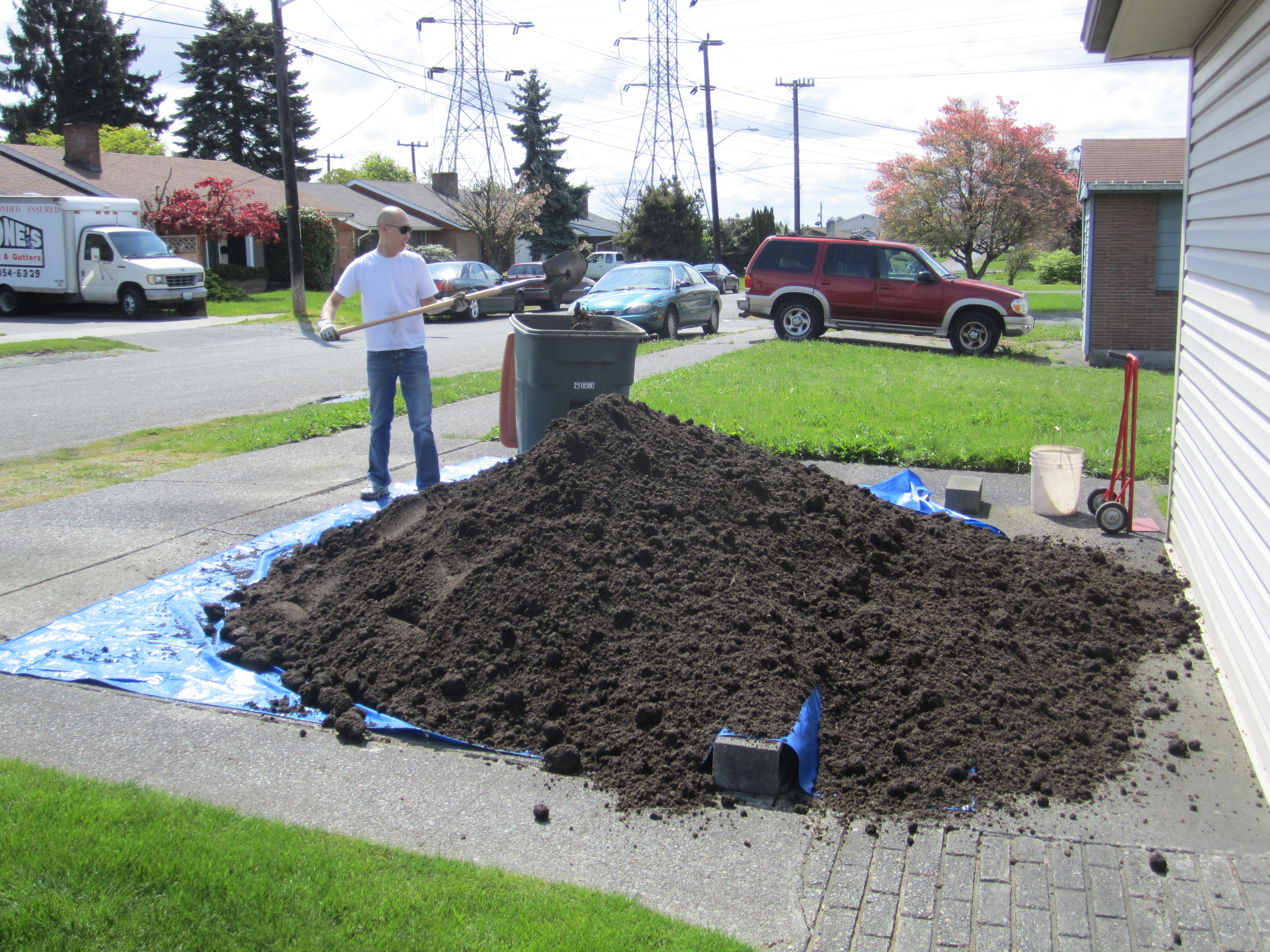 how to work out cubic metres of soil